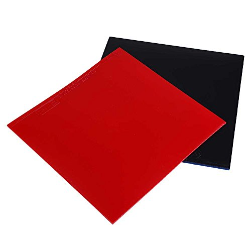 Forfar 2Pcs Ping Pong Rubber Table Tennis Rubber Table Tennis Bat Replacement Rubbers Sheet Rubber for Table Tennis