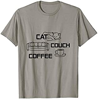 Cat Couch Coffee  Gift For Men Women T-shirt | Size S - 5XL