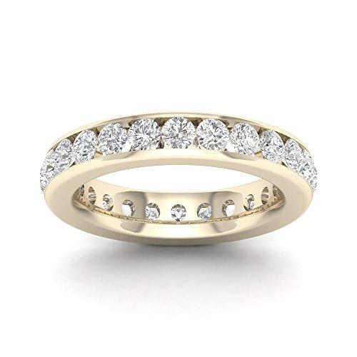 IGI Certified 14k Yellow Gold 2 ct TDW Diamond Eternity Wedding Band (H-I, I2)