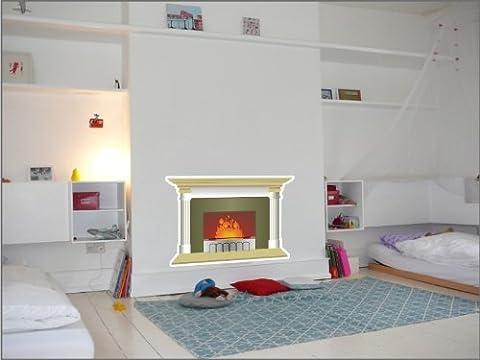 N1178 Fireplace vinyl sticker, wallpaper decoration,Wall Stickers Graphics Vinyl Decal (Fireplace Wallpaper)