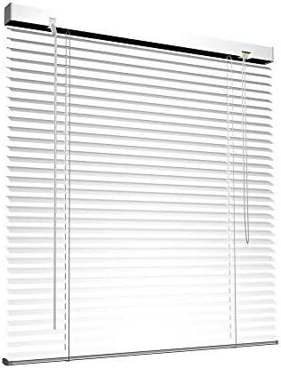 Victoria M. Veneziana in Alluminio, 45 x 130 cm, Bianco, Montabile Senza Fori, Incluse Clip di Fissaggio Klemmfix