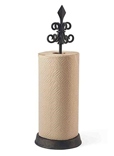 Fleur De Lis Paper Towel Holder By Mud Pie