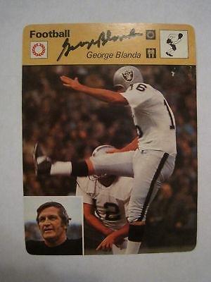 George Blanda Autographed Football - 7