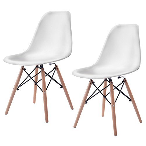 Giantex Set of 2 Mid Century Modern Style DSW Dining Side Ch