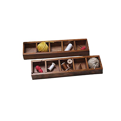Planta bandeja clásico Mini cajas de madera plantas en maceta caja de almacenamiento Caja de almacenamiento de madera...