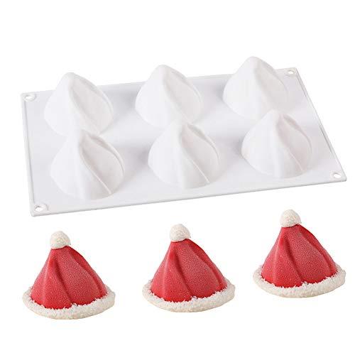 ESA Supplies Christmas Cake Mold Silicone Christmas Hat Baking Molds Xmas Cake Pan Pudding Dessert Molds BPA Free ()