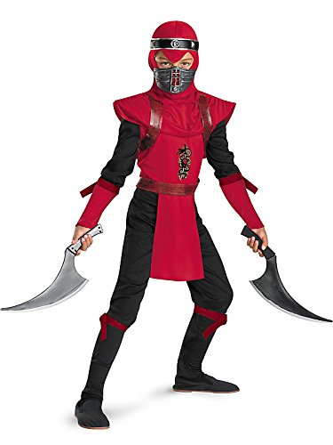 [Red Viper Ninja Deluxe Costume - Medium] (Red Jumpsuit Costume)