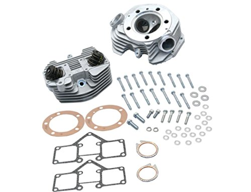 S&S Cycle Super Stock Cylinder Heads (Band Intake) - 3-5/8in. Bore - Dual Head - Natural Finish 901488 -