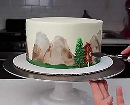 3Pcs Stainless Steel Spatula Palette Set Cake Decor Tools Smooth J8L5