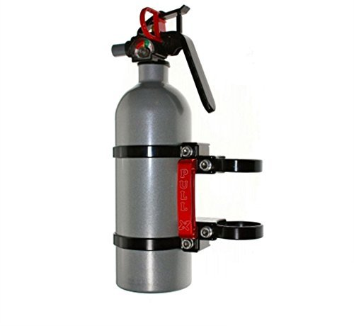 """Axia Alloys Quick Release Fire Extinguisher Mount w/ 2 lb. Extingushier and Two 1.75 """" Clamps"""
