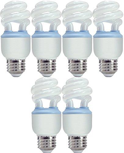 (GE Reveal CFL 10 Watt (40 watt replacement) Spiral Light Bulb with Medium Base (6 Bulbs) )