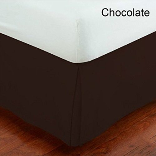 MK Collection King Size Solid Brown Bed Skirt New