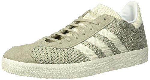 adidas Originals Men's Gazelle PK Sneaker, Sesame/White/Trace Green, 11 Medium US