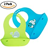 Vadel baby Waterproof Silicone Baby Bibs for...