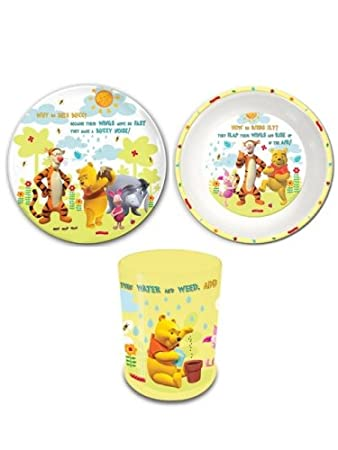 Disney Winnie the Pooh Tumbler Bowl and Plate Set  sc 1 st  Amazon UK & Disney Winnie the Pooh: Tumbler Bowl and Plate Set: Amazon.co.uk ...