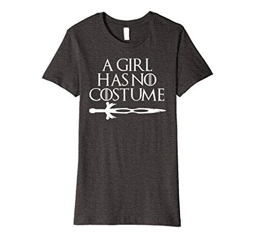 Womens ORIGINAL Girl Has No Costume No Name Funny Halloween T-Shirt Medium Dark Heather