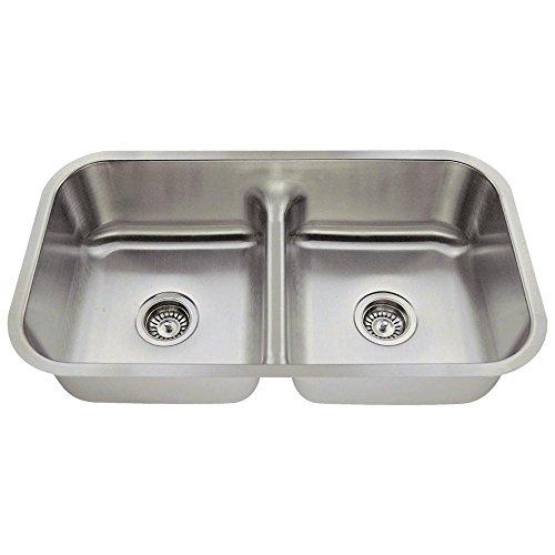 512 16 Gauge Undermount Half Divide Stainless Steel Kitchen Sink