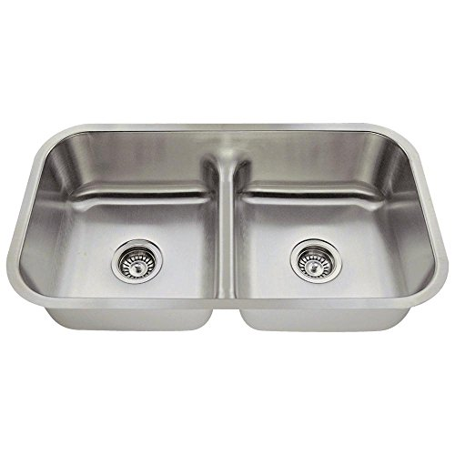 512 16-Gauge Undermount Low-Divide Stainless Steel Kitchen Sink (Difference Between 16 And 18 Gauge Sinks)
