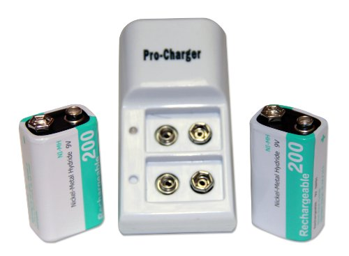 9 Volt Slim Battery Recharger with 2 Batteries Included by ESA Medical