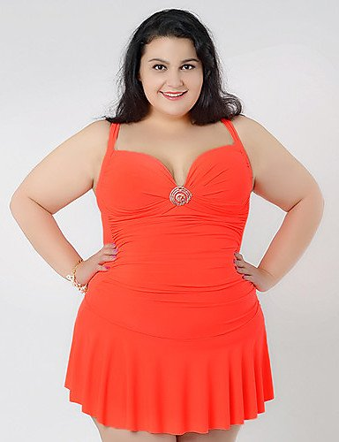 Big estivo l\'Abito da donna, Costume intero Fat-Costume da bagno con ...