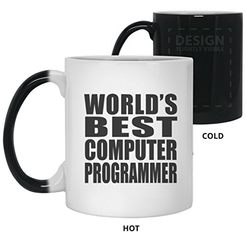 (World's Best Computer Programmer - 11 Oz Color Changing Mug, Heat Sensitive Cup, Best Gift for Family, Friend, Birthday, Wedding Anniversary, Holiday, Mother's/Father's Day)
