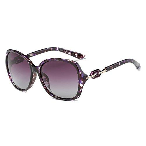 عینک آفتابی قطبی زنانه Amomoma Classic لنزهای محافظت شده در برابر اشعه ماوراء بنفش UMS AM2009 مرمر بنفش / لنزهای بنفش بنفش