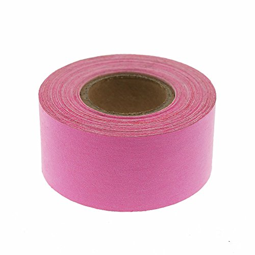 "1"" Fluorescent Pink Color-Code, Clean-Remove Labeling Tape, Write On Surface 