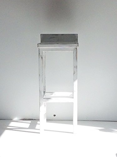 Shabby Chic Style White Low Back Solid Wood 30
