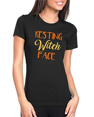 Halloween T-shirt For Women Resting Witch Face Funny Shirt -