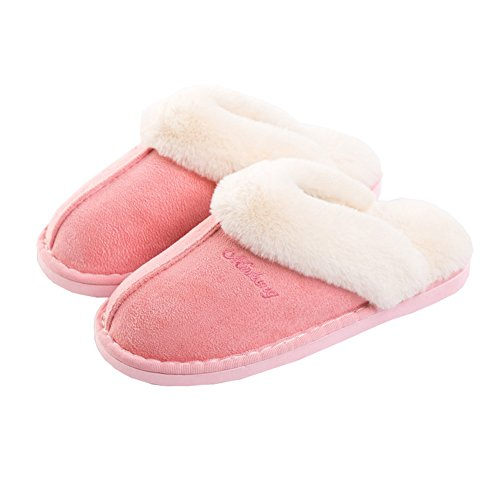 Slipper Haloyo Slippers On Soft Clog Slip Fluffy Pink1 for House Slipper Womens Indoor Outdoor Winter Women T0Hfw7qrTx