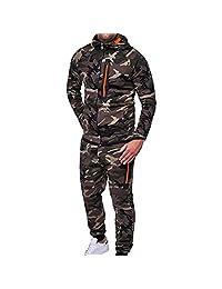 Limsea Men's Autumn Winter Camouflage Top Pants Sports Suit Tracksuit