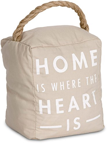 Pavilion Gift Company 72191 Home is Where The Heart is Door Stopper, 5 x - Shops Pavilions