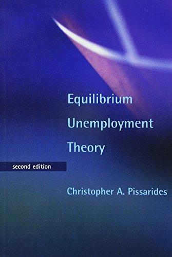 Equilibrium Unemployment Theory  Mit Press
