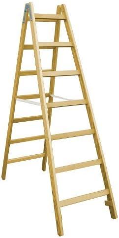 Eurostyl - Escalera de tijera de madera, 2x6 travesaños, 1,80 m, probada por GS: Amazon.es: Bricolaje y herramientas
