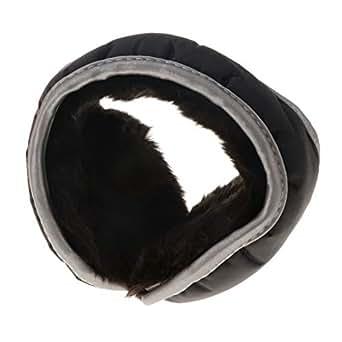 Baosity Unisex Plush Lined Foldable Sport Winter Warm Earmuffs Waterproof Earwarmer - Black, as described