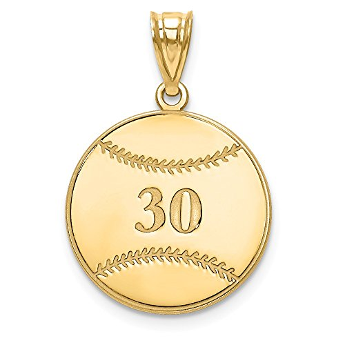 Jewelry Pendants & Charms Personalized Gold Plated/SS Laser Baseball Number And Name Pendant