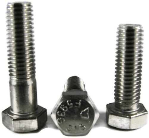 Hex Cap Screws 316 Stainless Steel - 1/2-13 x 5 Partial Thread Qty-250