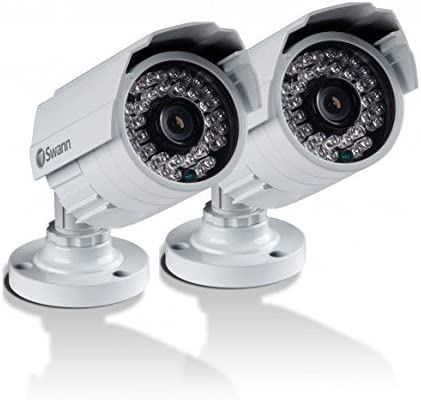 Swann SWPRO-842CAM-US 900TVL High-Resolution Day Night Security Camera – Night Vision 85ft 25m White Gray 2 Pack