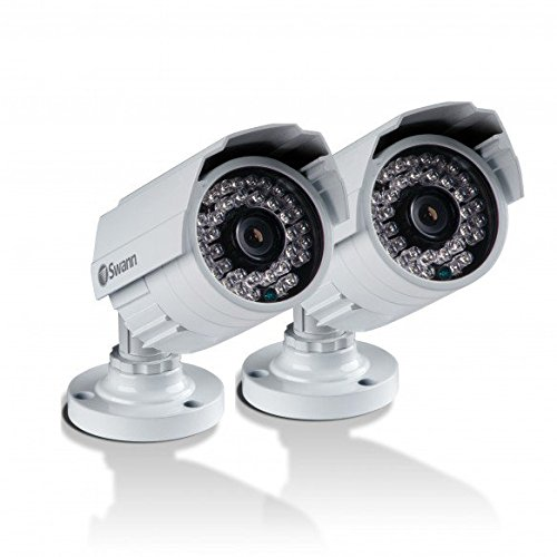 Swann SWPRO-842CAM-US 900TVL High-Resolution Day/Night Security Camera - Night Vision 85ft / 25m (White/Gray) 2 Pack (High Video Resolution Cameras)