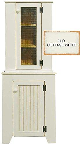 Corner Jelly Cupboard & Hutch Set (Old Cottage (Pine Corner Cupboard)