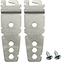 OTRMAX 2 Pack Undercounter Dishwasher Mounting Bracket Replacement Kit with Mounting Screws