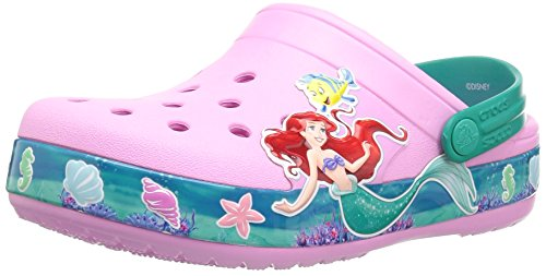 Crocs Unisex-Kids CB Princess Ariel Clog K , carnation , C7 M US Toddler