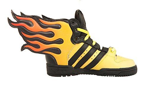 Adidas JS FLAMMES I Chaussures Sneakers Bebe Jaune Noir Jeremy Scott Adidas