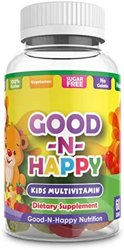 Good-N-Happy Multivitamin for Kids - Gummy Vitamins and Minerals for Children, Toddlers and Teens. Sugar-Free, Non-GMO