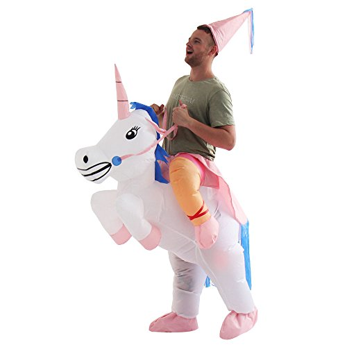 Yeahbeer Inflatable Halloween Costume Adult and Children Carry On Animal Fancy Dress Costume (Unicorn for Adult) (Mens Costumes)