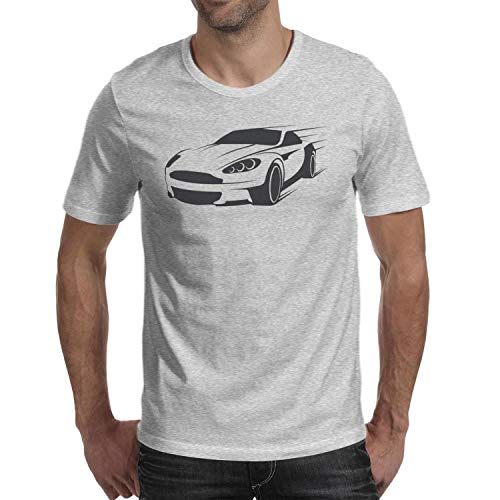 SMHNG A-Ston-M-Artin-Car- Printed Men's Mens T-Shirt Casual Crew Neck 100% Cotton Tees -