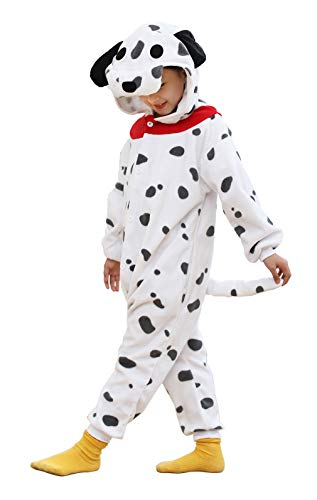 Sporty Dog Plush One Piece Pajamas Cosplay Costume for Kids 3t 4t 5t
