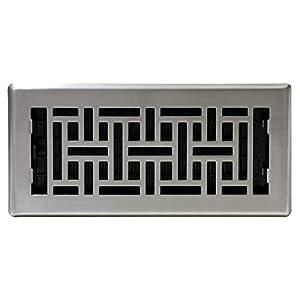 Decor Grates AJH410-NKL Floor Register, 4″ x 10″, Nickel