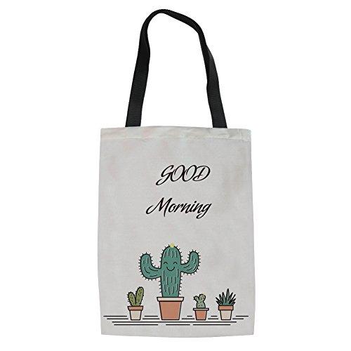HUGS IDEA Y-CC295Z22 - Bolso de tela para mujer, Cactus3 (Marfil) - Y-CC2961Z22 Cactus4
