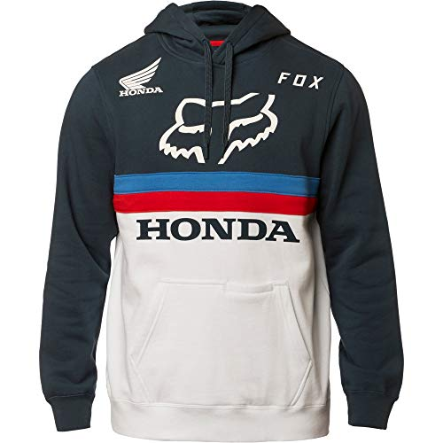 Fox Racing Honda Pullover Hoodie-Navy/White-S